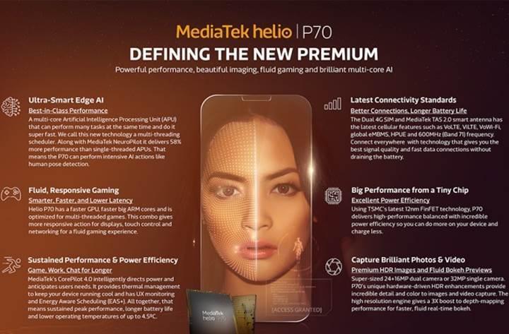 Daha gelişmiş yapay zekaya sahip MediaTek Helio P70 duyuruldu