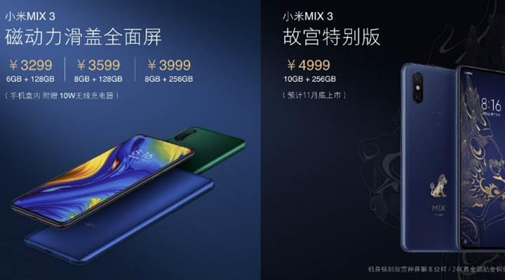 5G destekli Xiaomi Mi Mix 3 duyuruldu: İşte özellikleri ve fiyatı