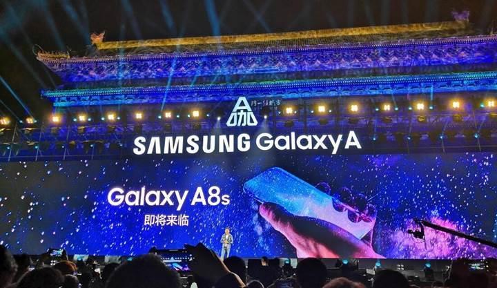 Samsung Galaxy A8s yeni bir ekran teknolojisi ile gelecek