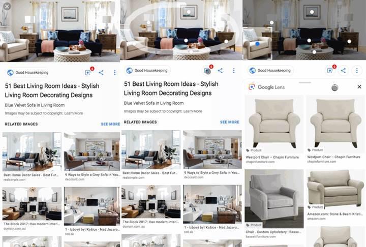 Google, Lens'i görsel aramaya entegre etti