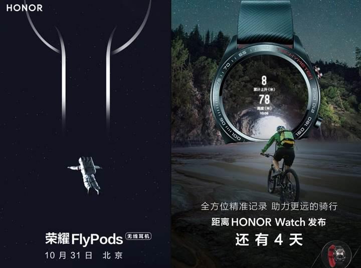 Honor Watch akıllı saat ve Honor Flypods kablosuz kulaklık detaylanıyor
