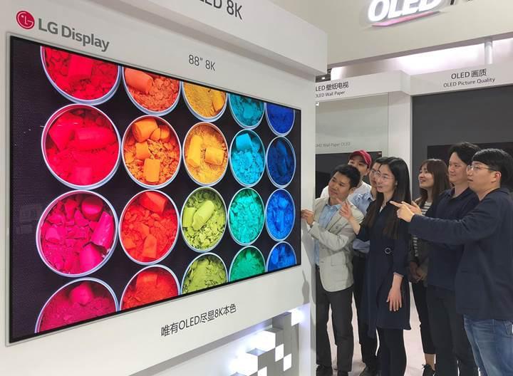 LG, 8K OLED TV'lerini 2019'da piyasaya sürecek
