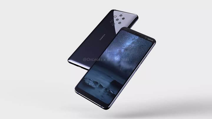 Beş arka kameralı Nokia 9'un görselleri yayınlandı