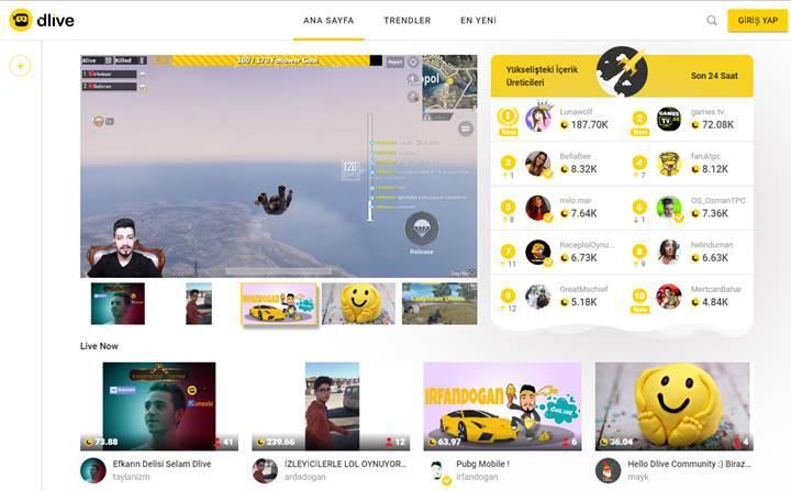 Blok zincir tabanlı yayın platformu DLive, Honor işbirliği ve yeni yayıncılarla büyümeye devam ediyor