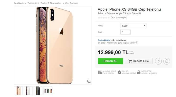 iPhone Xs ve iPhone Xs Max, n11'de satışa sunuldu! İşte fiyatları: