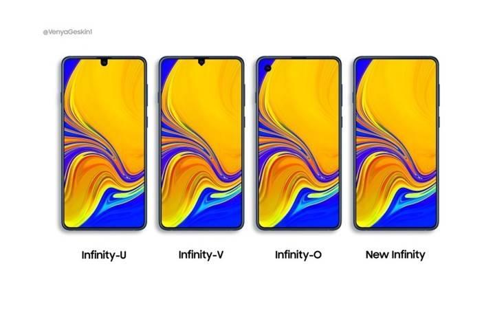 Samsung Galaxy A70 ve Galaxy A90 yeni ekran tasarımlarıyla gelecek