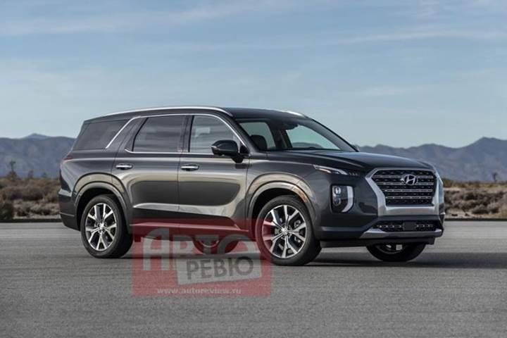 Hyundai'nin büyük SUV'u Palisade'ın tasarımı ortaya çıktı