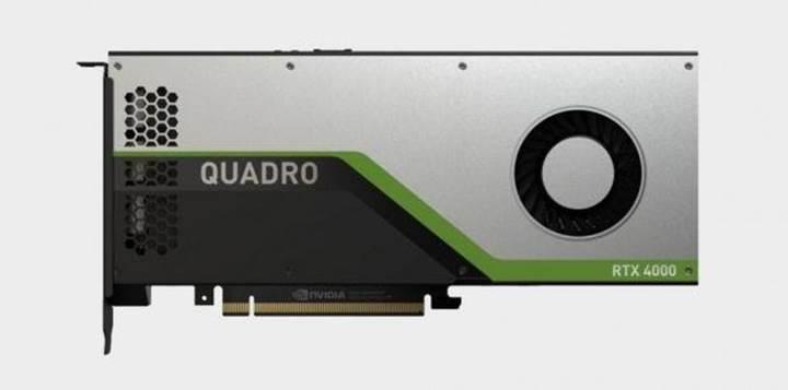 Tek slotlu Nvidia Quadro RTX 4000 ekran kartı duyuruldu