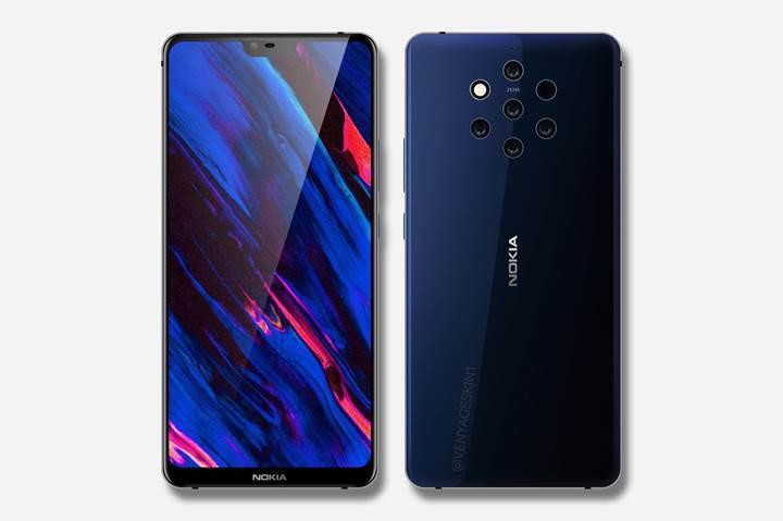 Beş arka kameralı Nokia 9, 5 Aralık'ta gelebilir