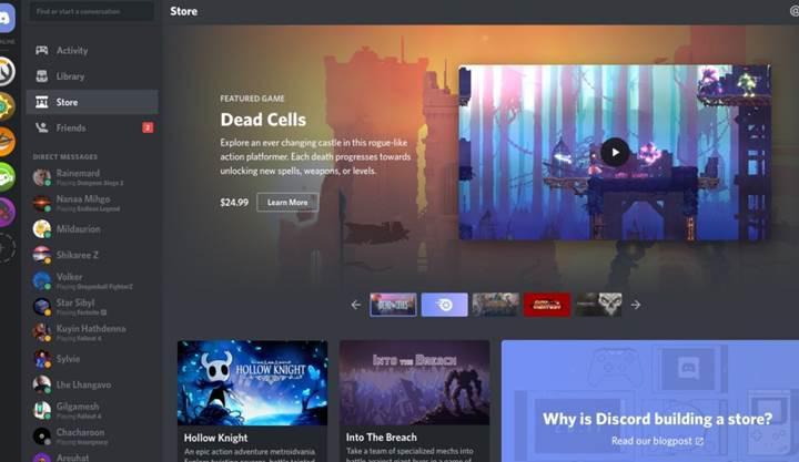 Discord kendi mağazası üzerinde oyunlara erken erişim sunmaya başladı