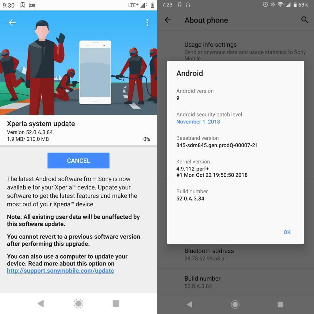 Sony, Xperia XZ2 Premium için Android Pie güncellemesini başlattı