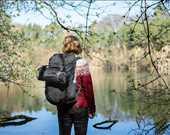 Wasserläufer şişme botu, rahatça rulo haline getirilip, sırt çantasında taşınabiliyor.