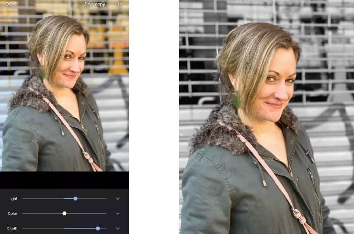 Google Fotoğraflar portre özelliklerini iOS'a getirdi