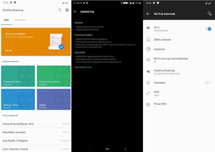 OnePlus Roaming: SIM olmadan internet hizmeti