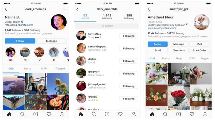 Instagram yeni profil tasarımı