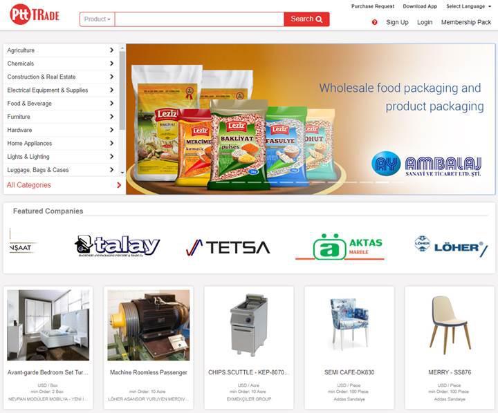 PTT'nin küresel e-ticaret sitesi kullanıma sunuldu: ptttrade.com