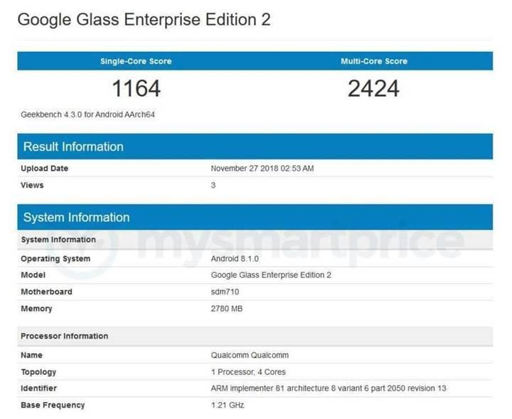 Yeni Google Glass üst seviye bir donanımla geliyor
