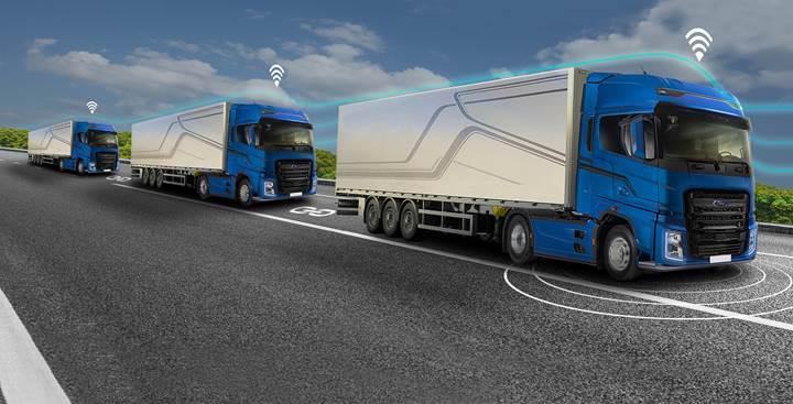 Ford Otosan, Platooning adı verilen otonom konvoy teknolojisi üzerinde çalışıyor