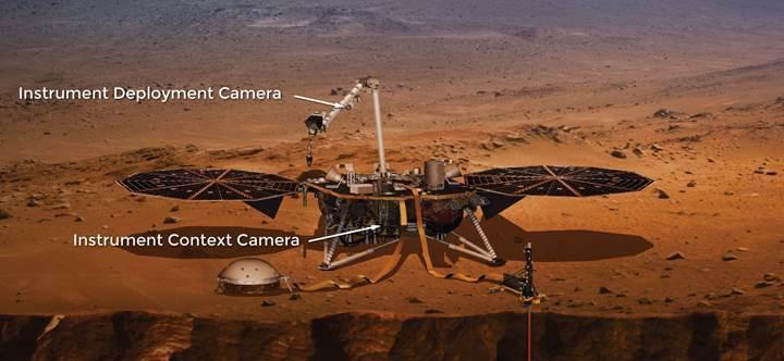 Mars'ta bulunan InSight aracından yeni fotoğraflar