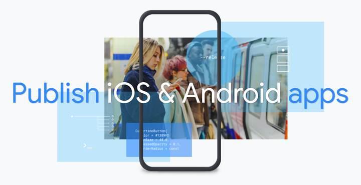 Google Flutter, iOS ve Android arayüz geliştirme