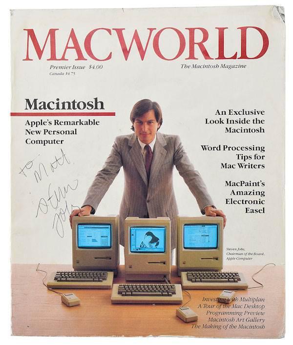 Macworld dergisinin Steve Jobs imzalı açılış sayısı açık artırmaya çıkıyor