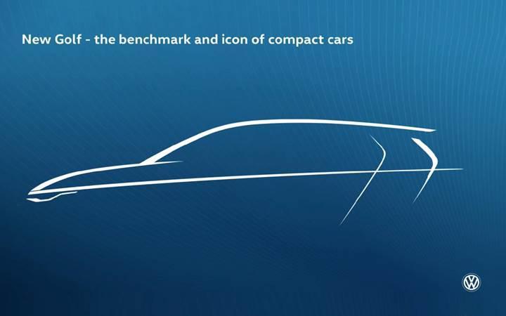 Volkswagen yeni nesil Golf'ün ilk teaser görselini yayınladı