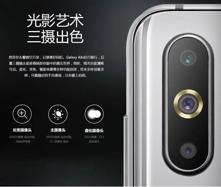 Infinity-O ekranlı ilk telefonla tanışın: Samsung Galaxy A8s resmen tanıtıldı