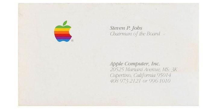Steve Jobs'ın kartviziti açık artırmada 6.259 dolara satıldı