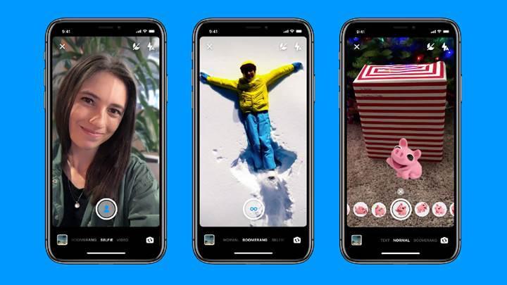 Facebook Messenger'a yeni kamera özellikleri geldi