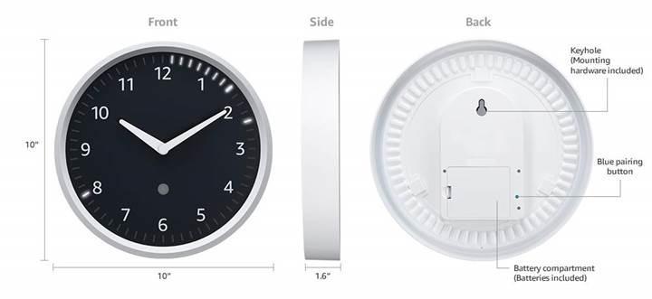 Amazon Echo akıllı duvar saati satışa sunuldu