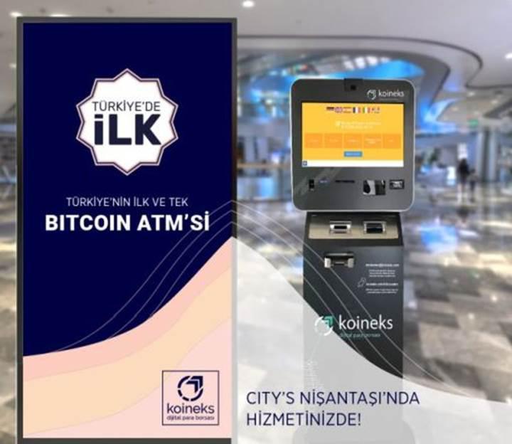 Türkiye'de ilk Bitcoin ATM'si kuruldu