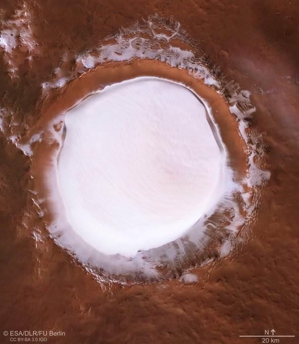 Mars'taki dev 'buz gölü' görüntülendi: İşte muhteşem fotoğraf