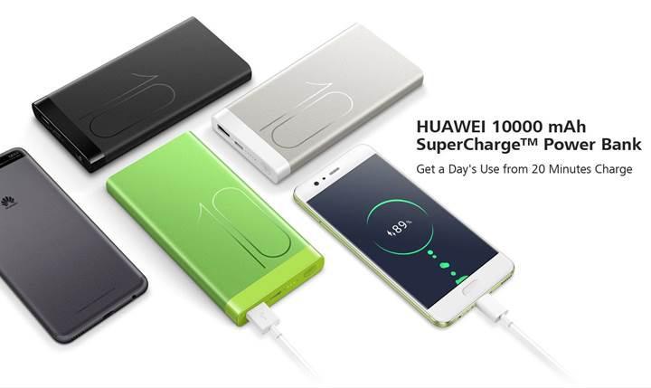 Huawei, 40W SuperCharge uyumlu bir taşınabilir şarj cihazı çıkarabilir