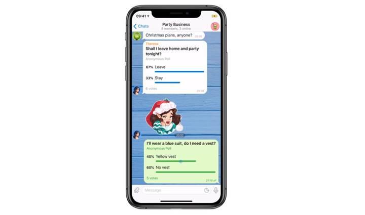Telegram'a anket ekleme özelliği geldi