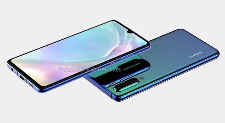 Su damlası çentikli Huawei P30'un görselleri yayınlandı
