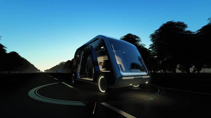 Otel olarak hizmet verebilen otonom araç tasarlandı