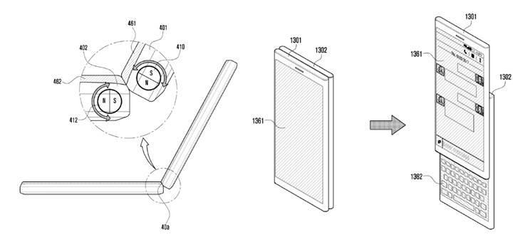 Samsung'dan ayrılabilir çift ekranlı telefon paten