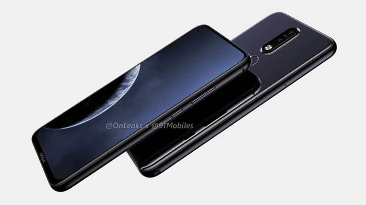 Delikli ekrana sahip Nokia 8.1 Plus'ın görselleri yayınlandı