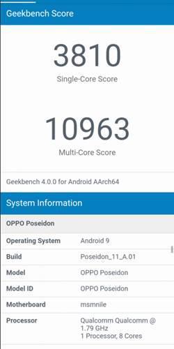 Poseidon kod adlı gizemli bir OPPO cihazı Geekbench'te görüntülendi