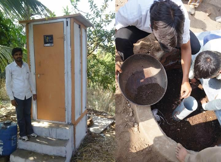 Solucanlarla doldurulan tuvalet kanalizasyon ihtiyacını ortadan kaldırıyor