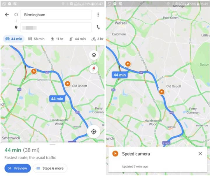 Google Haritalar'da radar simgeleri test ediliyor