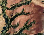 Yok olmuş bir nehrin izleri. Cantilana,İspanya.