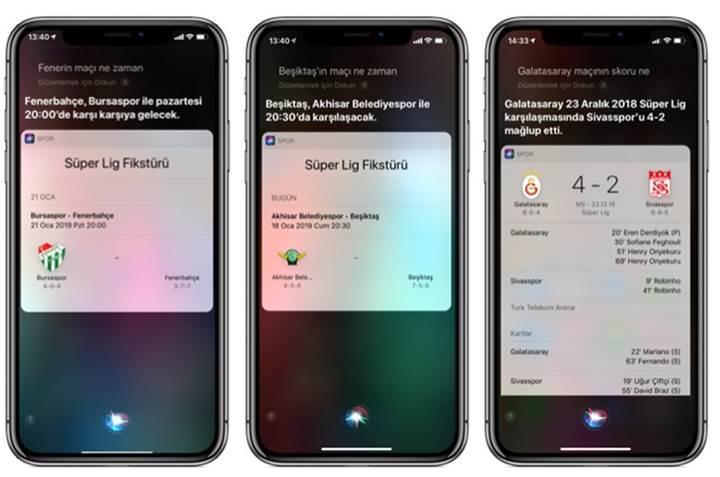 Siri, Süper Lig sorularınızı yanıtlıyor