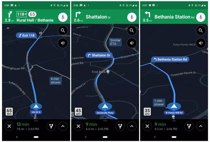 Google Haritalar, hız limiti uyarısı göstermeye başlıyor