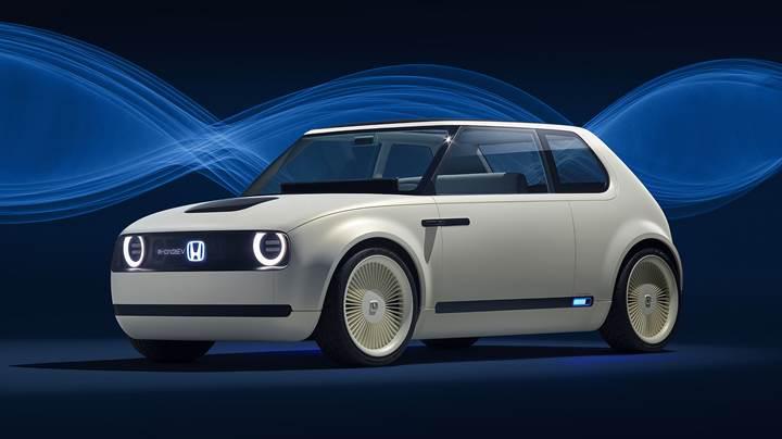 Honda, Avrupa'da satışa sunacağı ilk elektrikli otomobilin teaser görselini yayınladı