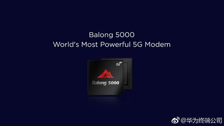 Huawei 6,5 Gbps hıza ulaşabilen 5G modemini tanıttı