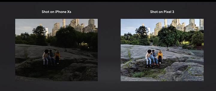 Google, Pixel 3 ile iPhone XS'in gece çekim performansını karşılaştırdı