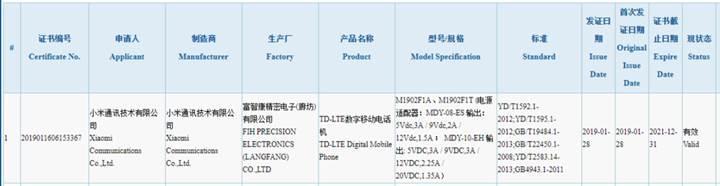 Xiaomi'den 27W hızlı şarj destekli gizemli telefon