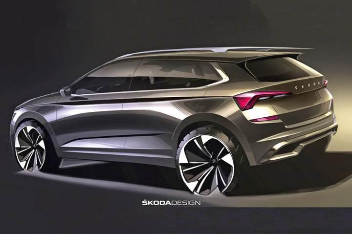 2019 Skoda Kamiq crossover'ın tasarımına ait çizimler paylaşıldı