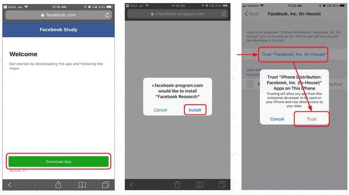 Facebook veri toplayan VPN kullanmaları için kullanıcılara ödeme yapıyor